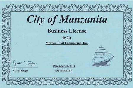 Manzanita Business License