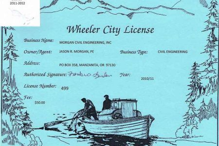 Wheeler City License